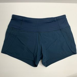 Lululemon Navy Blue Speed Shorts Z4 Size 4